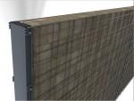 Detail obdélníkového sloupku a plotového dílce