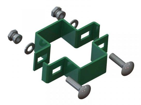 Objímka sloupku U-LOX - kovová objímka Designfence